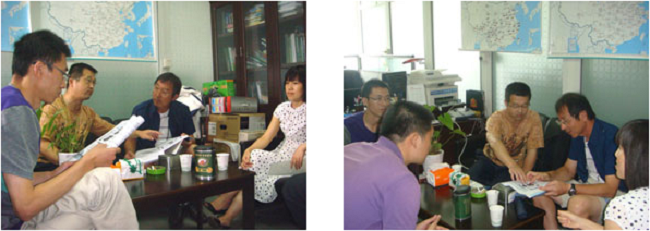 四川農業大学のスタッフとの協議