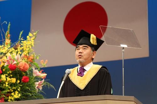 President Ochi addressing the welcome speech