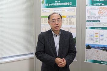 Director Tsuchida giving a speech