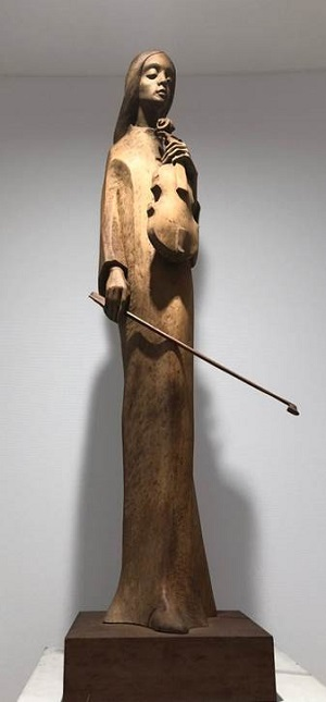 作者不詳「バイオリンを弾くマリア」