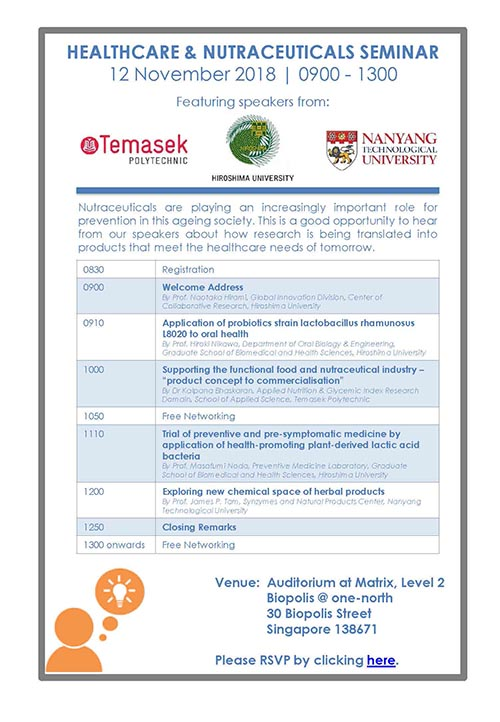 seminar to be held in Singapore