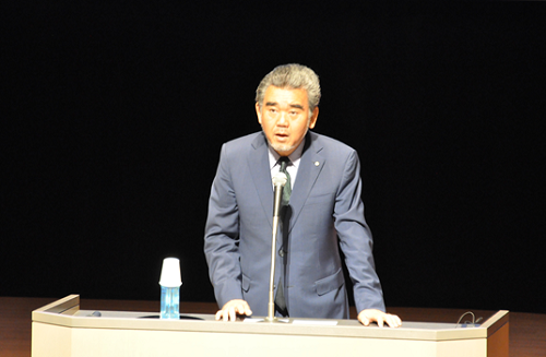越智広島大学長の開会あいさつ