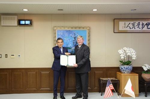 HU President Ochi and UV Vice President Galbraith