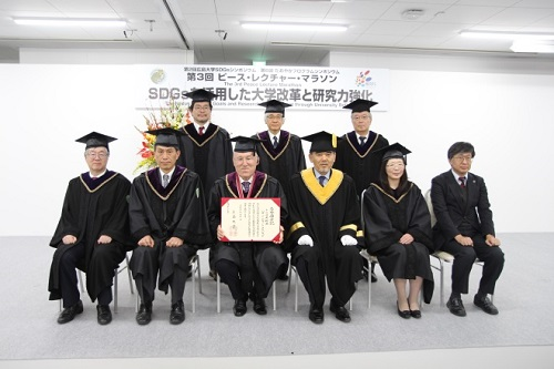 Commemorative photo after the Honorary Doctorate Awarding Ceremony