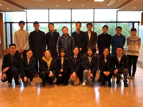 中国・重慶市の高校生が先端研を訪問しました