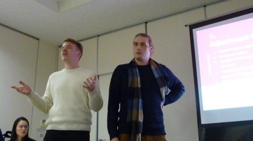 HUSA Program Students Conducting a Presentation