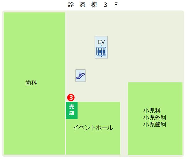 診療棟3Fマップ