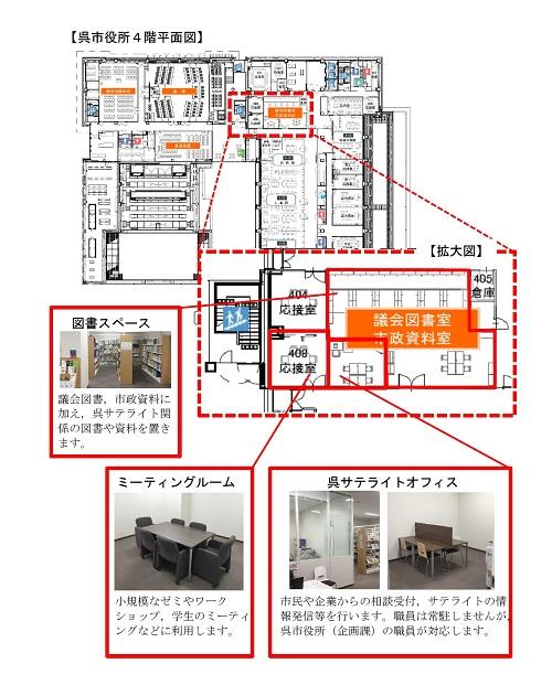 呉市役所4階平面図