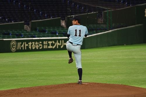 全日本大会では強豪校相手に堂々たる投球を見せた