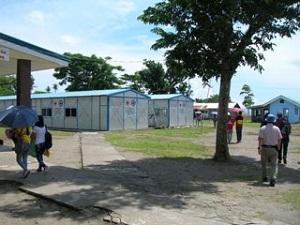 別のキャンパスにある水産学部(台風被害の爪痕がまだ・・)