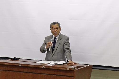 古澤副学長の挨拶
