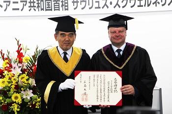 منح الدكتوراة الفخرية لرئيس وزراء ليتوانيا