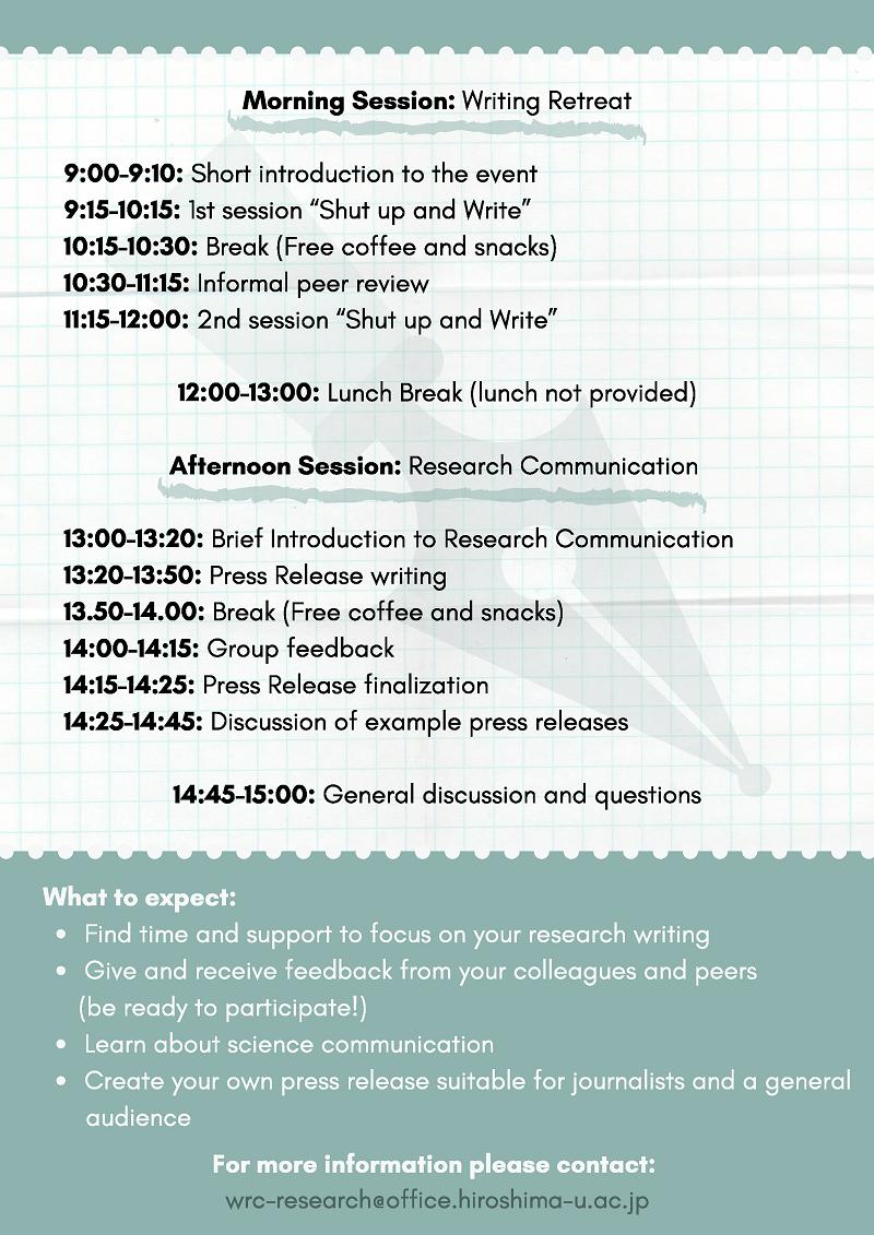 Academic Writing & Research Communication Retreat