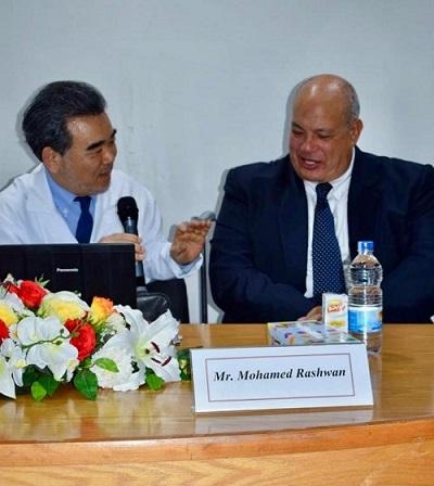Hiroshima University President Ochi and Mr. Rashwan