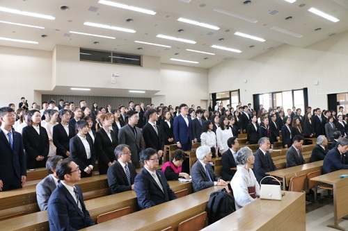「森戸国際高等教育学院3+1プログラム」第4期開講式