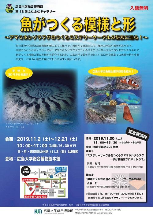広島大学総合博物館第18回ふむふむギャラリーを開催します