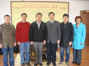 西北農林科技大学副学長(副校長)侯教授との記念撮影