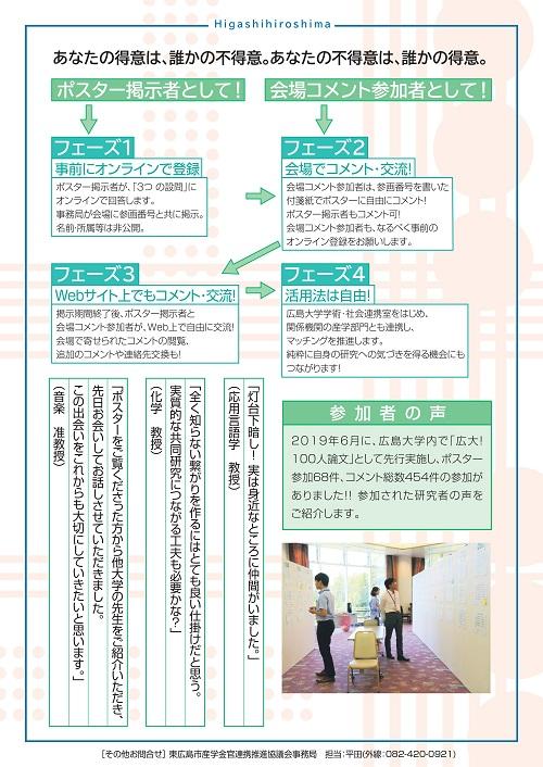 良縁創出プロジェクト「東広島100人論文」ポスター2