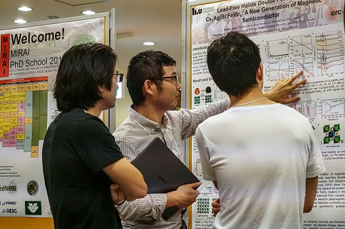 At the poster presentations
