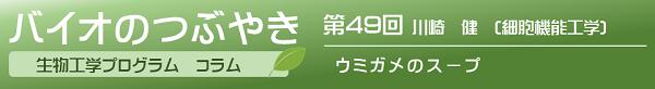 第49回川崎健助教「ウミガメのスープ」