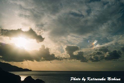 屋久島の彩雲