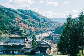 東広島キャンパスから南へ遠ざかると広がる風景
