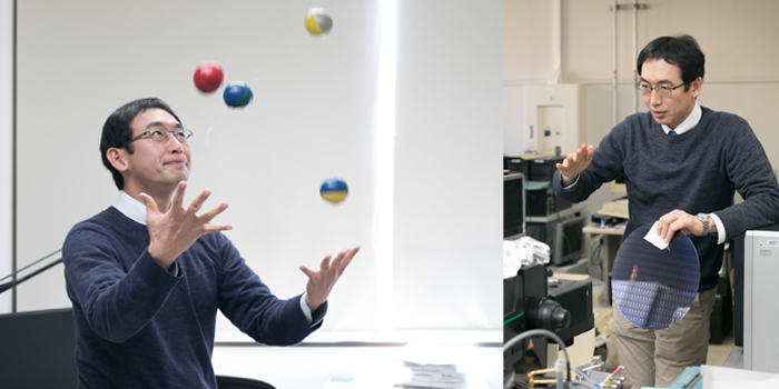 黑木教授在玩抛球游戏