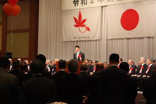 湯崎広島県知事による挨拶