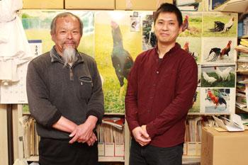 Professor Tsudzuki and one of his students
