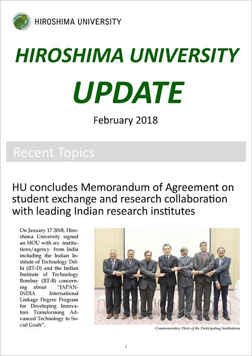 HIROSHIMA UNIVERSITY UPDATE February 2018 Issue