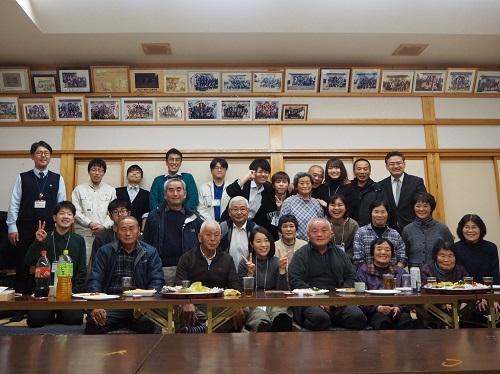 福島県葛尾村の皆さんとアイリスのメンバー