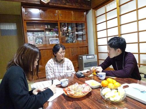 福島県葛尾村での実態調査の様子(1)