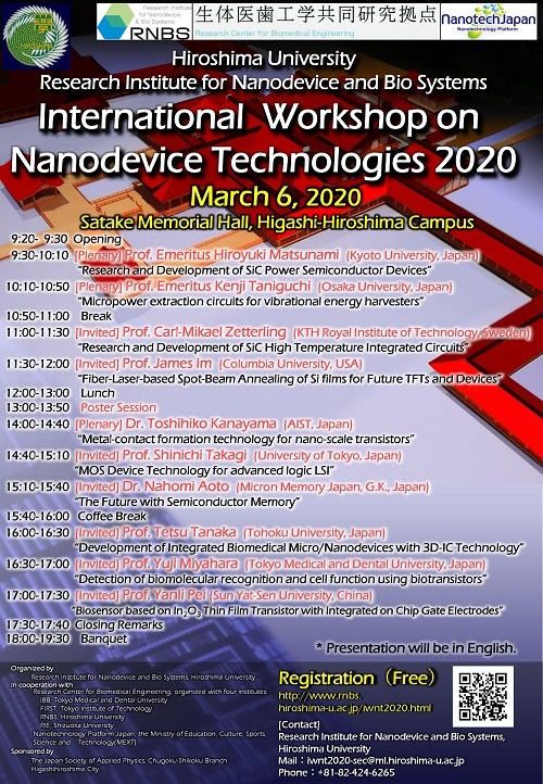 International Workshop on Nanodevice Technologies 2020