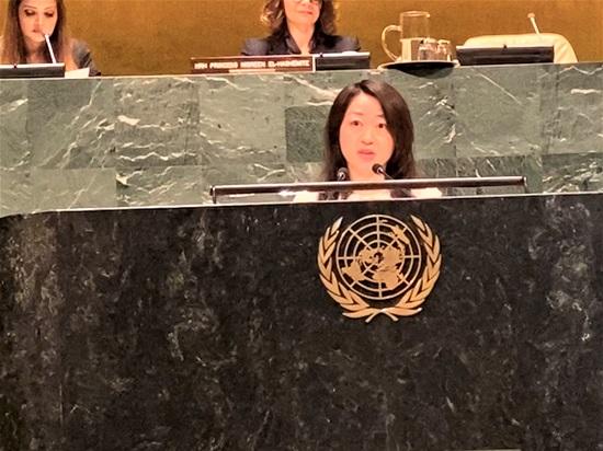 国連本部で開催されたInternational Day of Women and Girls in Scienceでのスピーチ