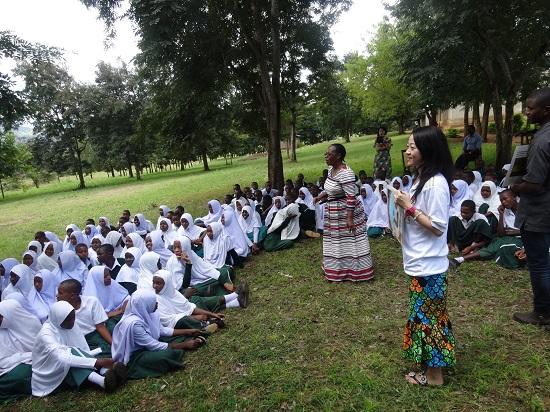 若年妊娠を予防する教育支援の様子