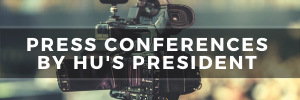 Press Conferences by HU's President