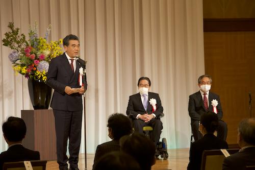 كلمة السيد أوتشى رئيس جامعة هيروشيما فى الحفل التذكارى