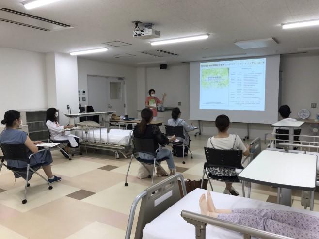 有病者の症状に合わせた口腔健康管理の講義