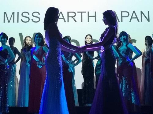 参加日本地球小姐并获奖的金子同学