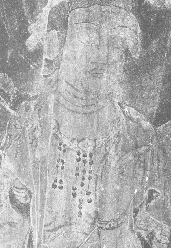 One of the discovered ancient Buddhist paintings at Saimyoji Temple