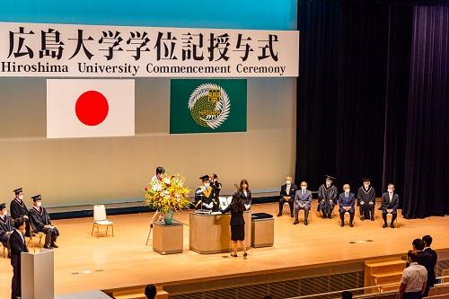 令和2年度広島大学秋季学位記授与式