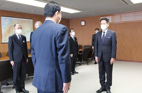 広島県警察本部での委嘱式