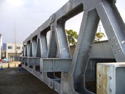 既往の応急橋(組立に4~7日かかります)