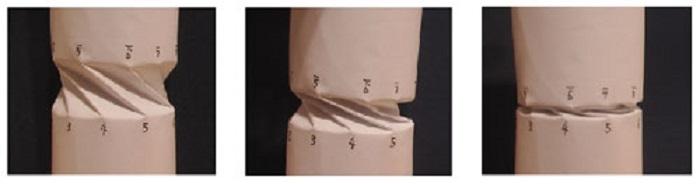 折り紙スキルによる円筒構造体の折り畳み原理と対称性破れ現象の一例(英国Bath大学非線形力学研究センターにて2003年度在外研究)