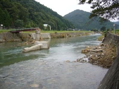 兵庫県佐用2009.8.9豪雨による流橋