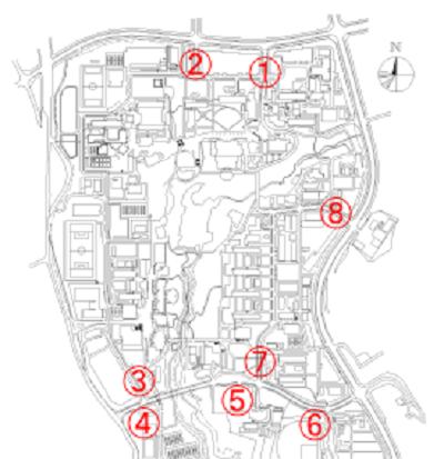 ゲート配置図