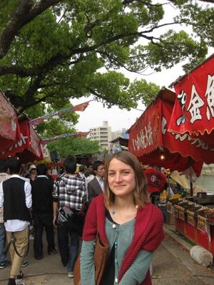 広島のフラワーフェスティバルにて