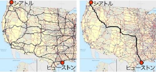 フィザルムソルバーを用いた全米高速道路網における最短経路探索