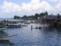 東南アジア漁村の資源調査地の風景