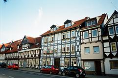 北ドイツの木組みの家並み